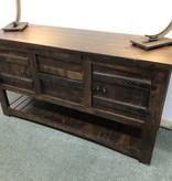 IFD 567- Mezcal Sofa Table W/2 Drawers & Doors 55x18x30