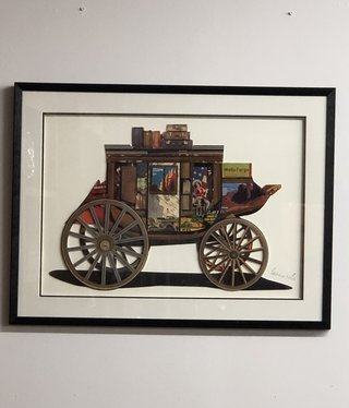 Simpkins-Canterbury Lane Collage 3D Art - Vintage Stage Coach