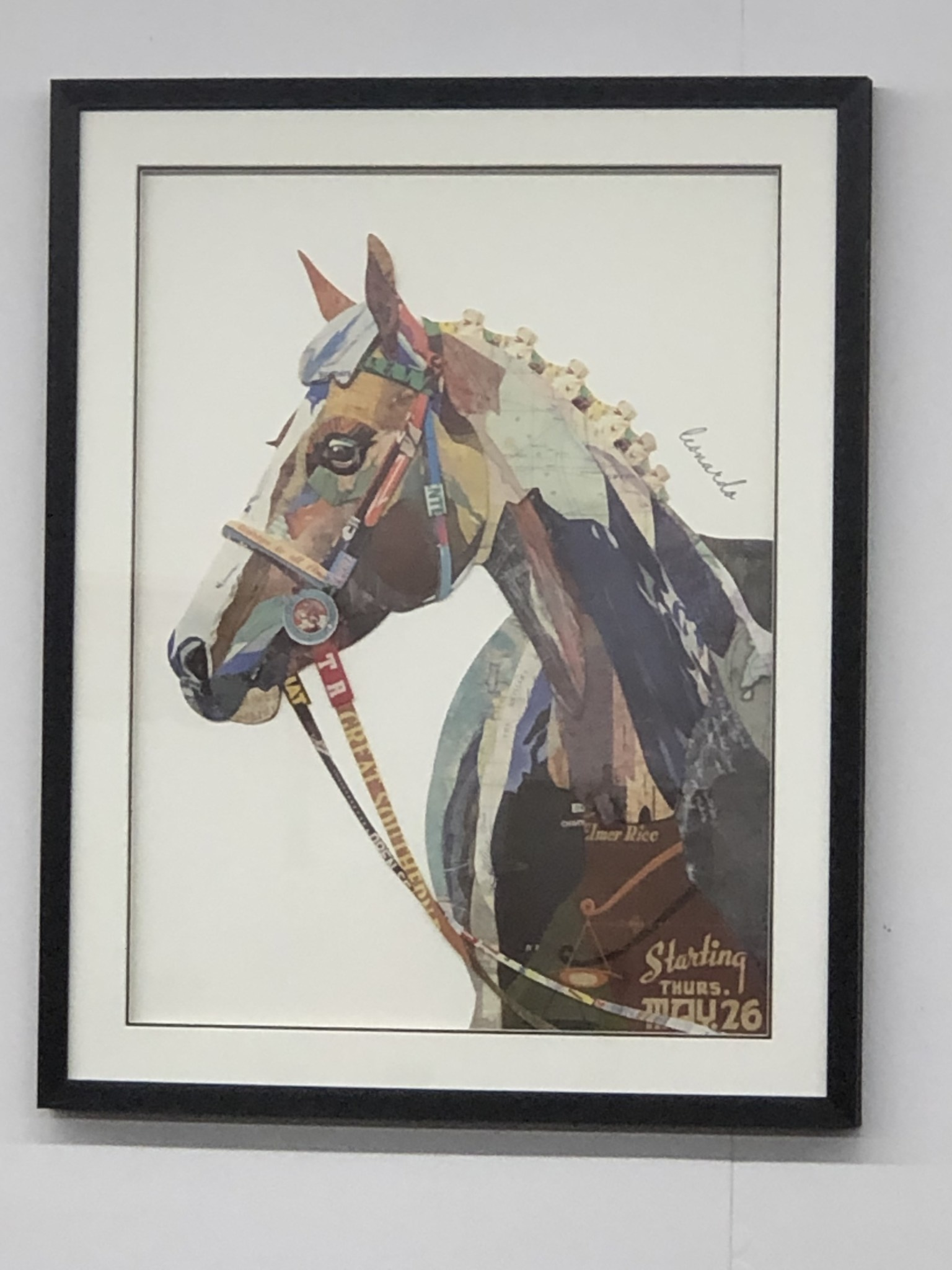 Simpkins-Canterbury Lane Collage 3D Art-Horse with Bridle