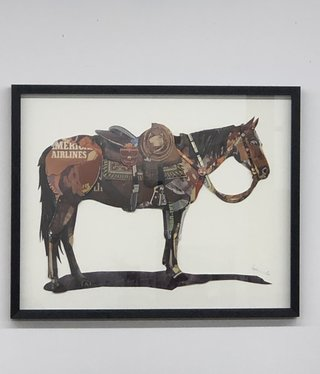 Simpkins-Canterbury Lane Collage 3D Art-Horse with Saddle