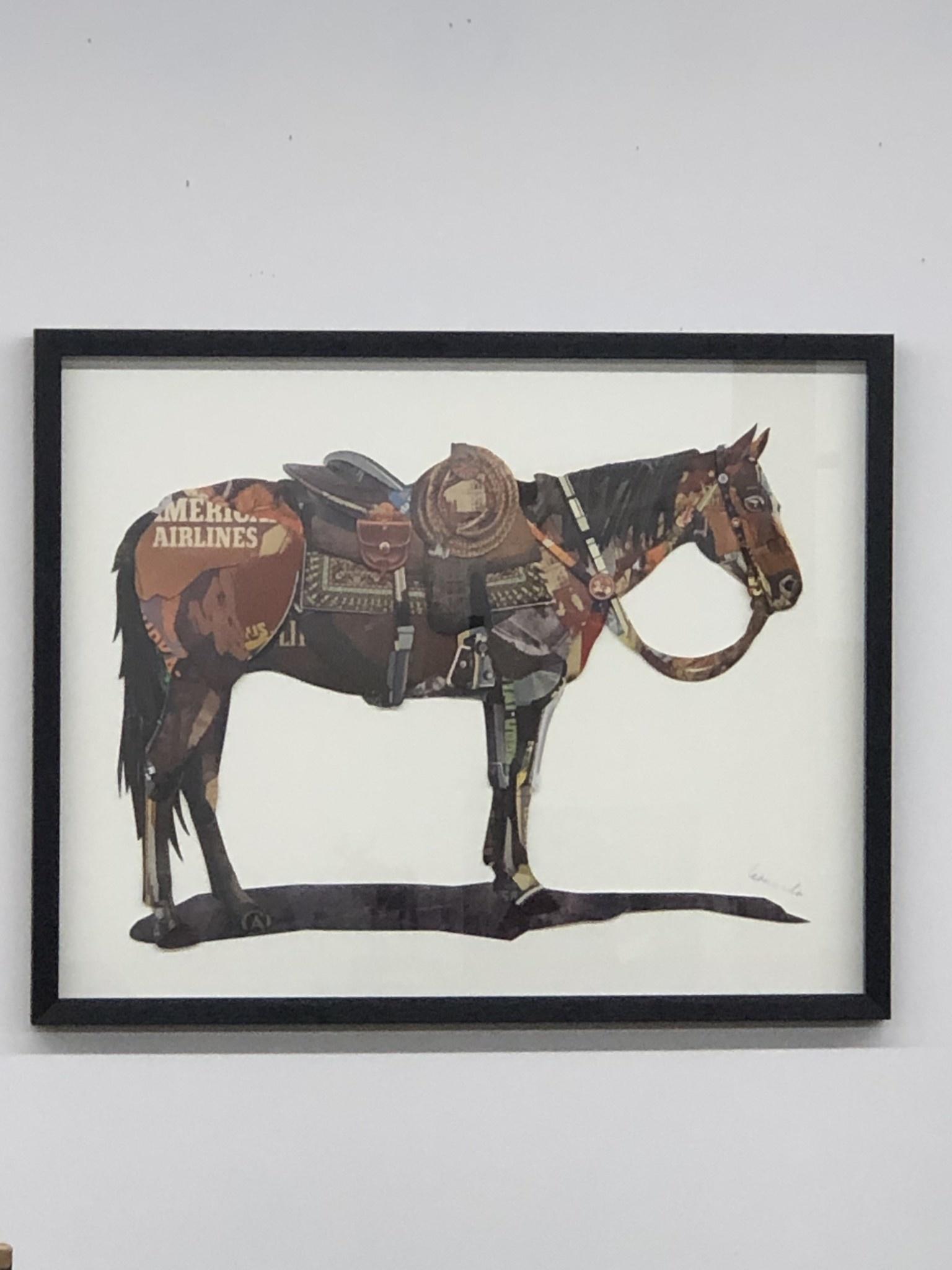 Simpkins-Canterbury Lane Collage 3D Art-Horse with Saddle