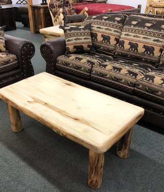 Rustic log Plain Coffee Table
