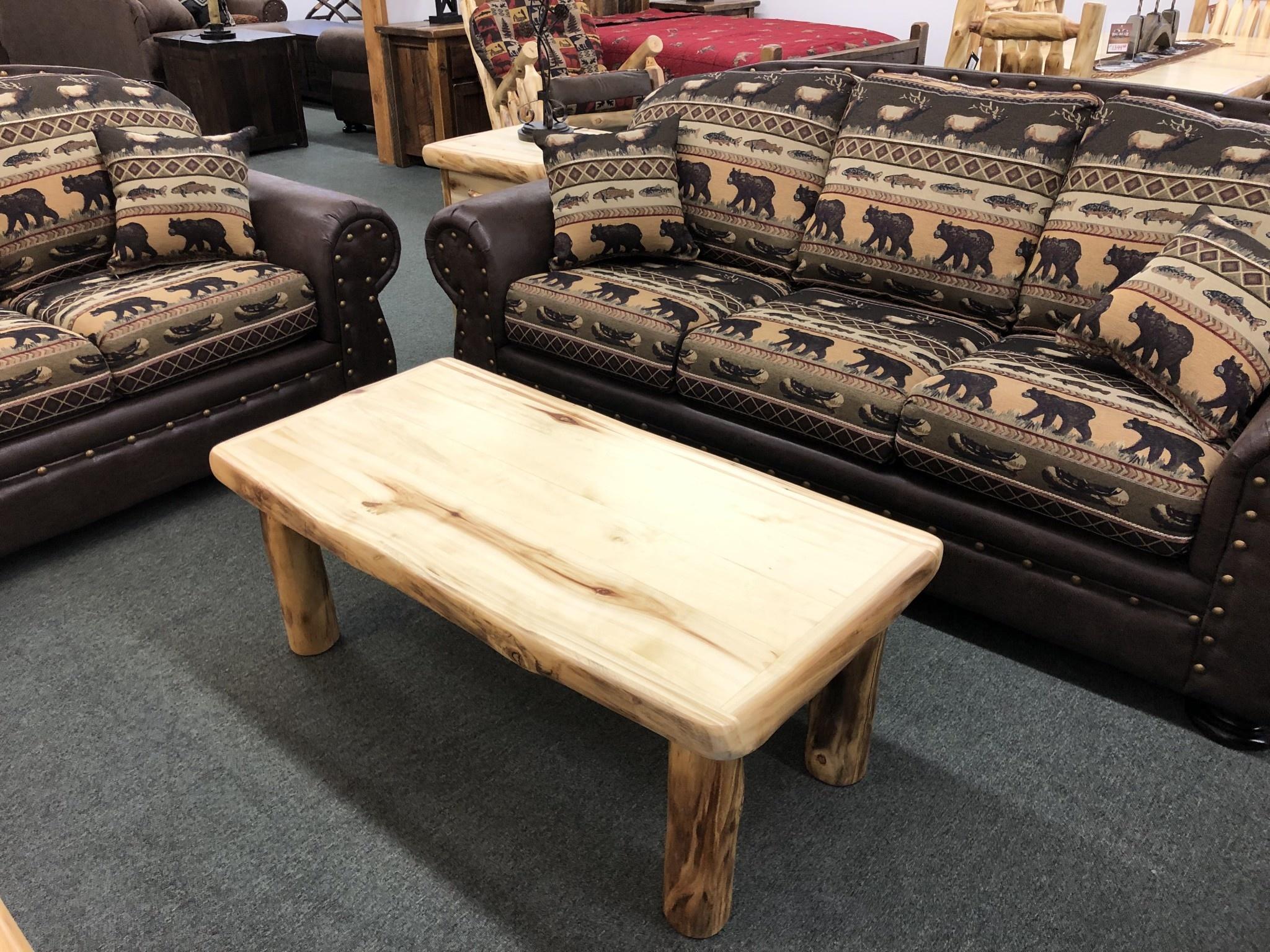 Rustic log Plain Coffee Table