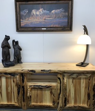 """Rustic log Gnarly TV Stand 72"""""""