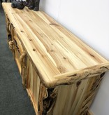 Rustic log Gnarly TV Stand 72""