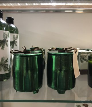 Frasier Fir Md Poured Candle/Green tin