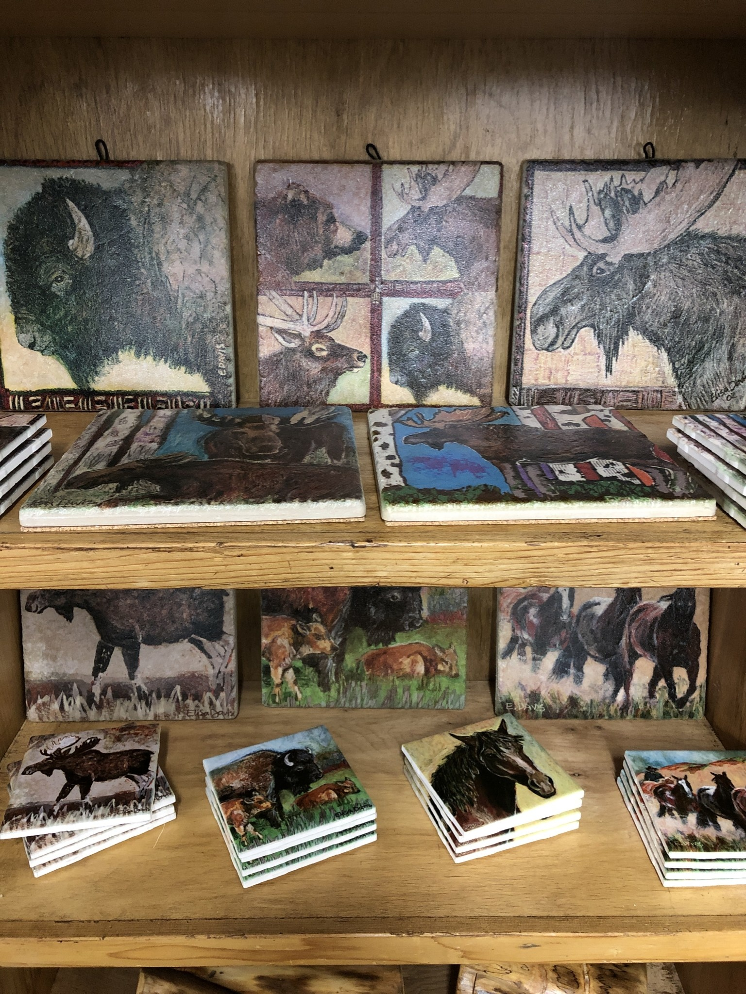 River Time Designs Animal / Scenery Tile Coasters