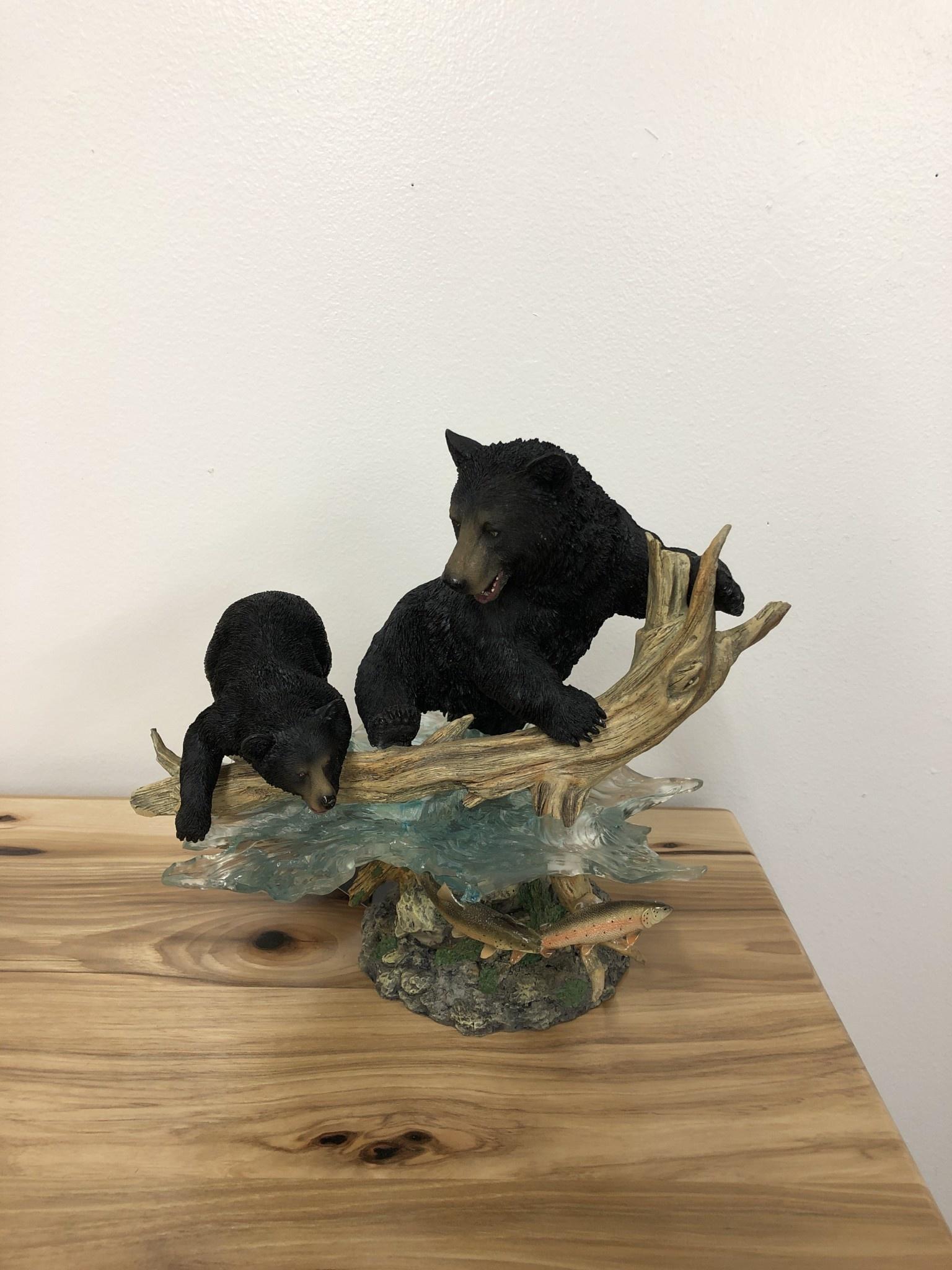 Simpkins-Canterbury Lane Mother Bear & Cubs Fishing
