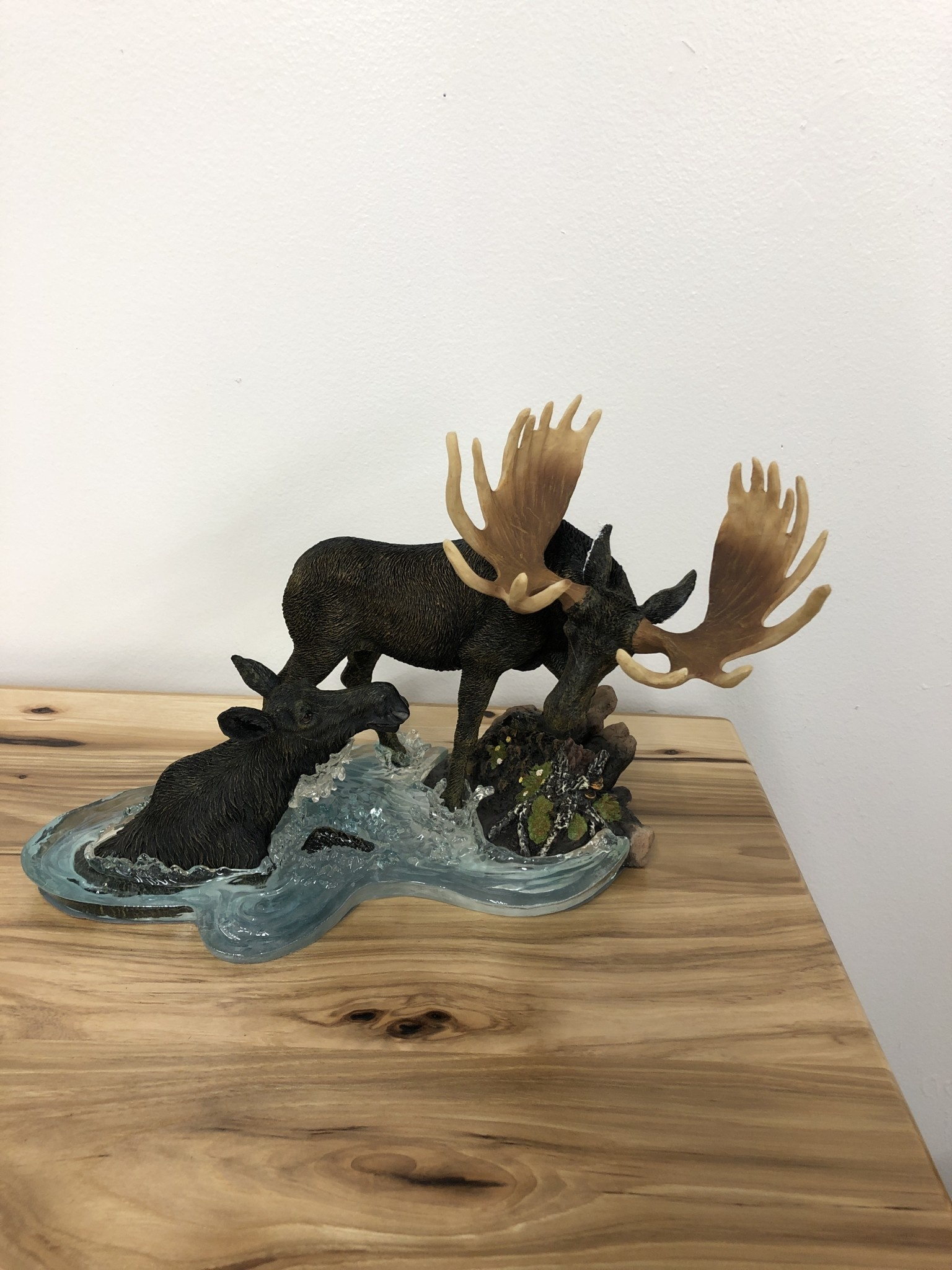 Simpkins-Canterbury Lane Bull Moose & Cow in Water