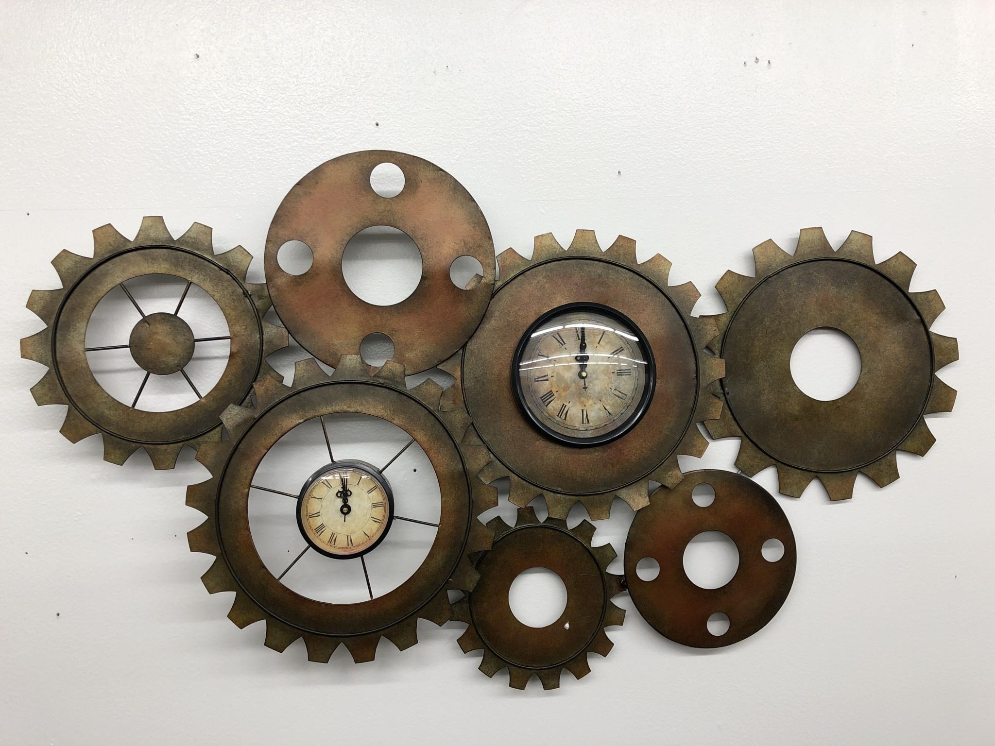 """Uma Metal Gear Clock, 34""""w x 17""""h"""