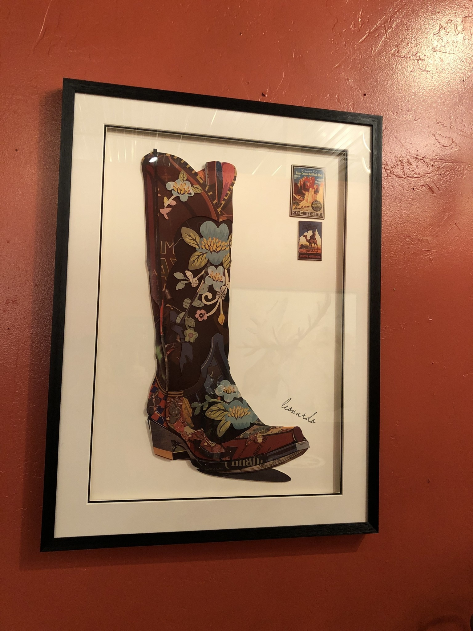 Simpkins-Canterbury Lane Collage 3D Art-Cowgirl Boot