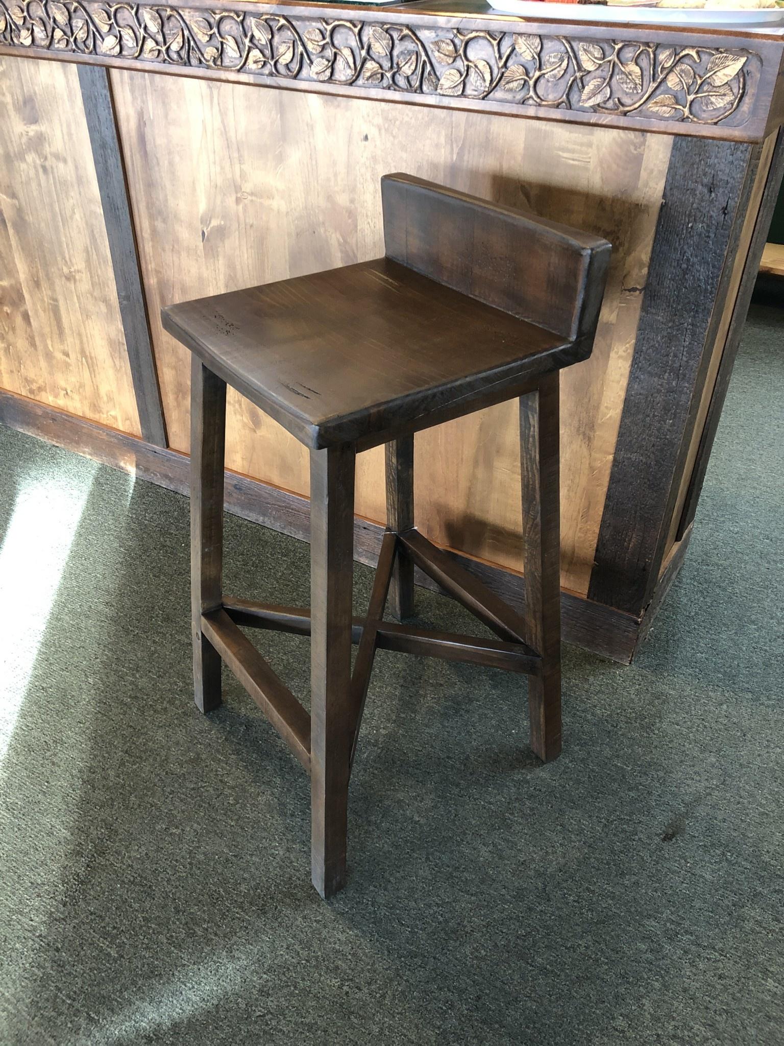 """IFD 360-Pueblo 30""""Wooden Stool  18.25x18.25x34.5"""