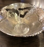 Crestview Willow Silver Lg Pierced Bowl