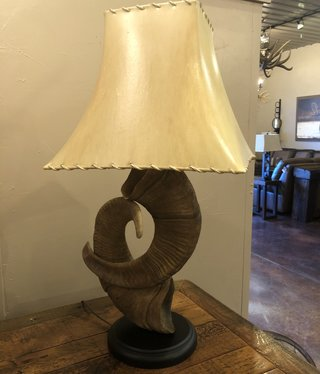 Fish Desert Bighorn Sheep Cast Lamp
