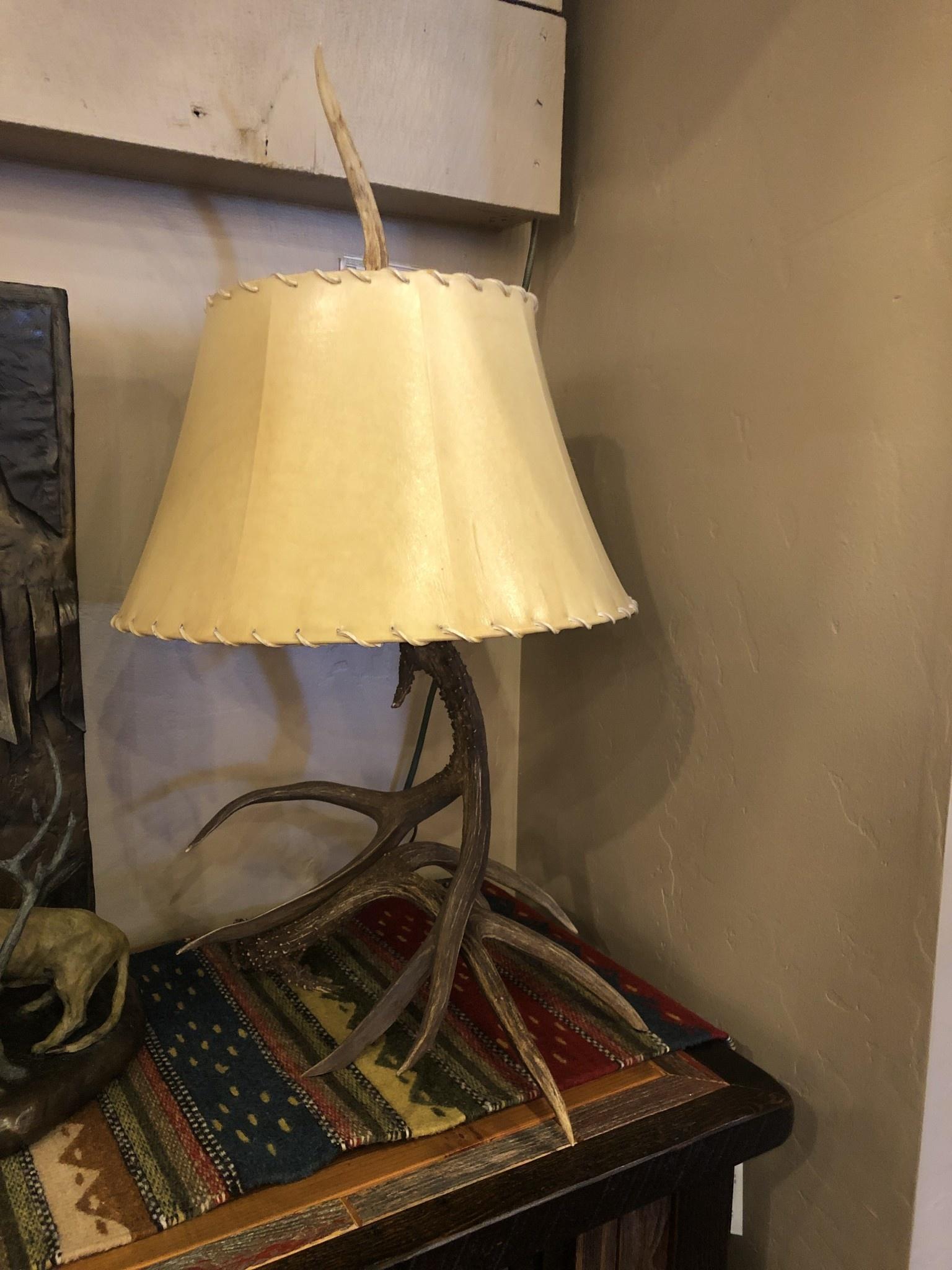 Fish Mule Deer Table Lamp