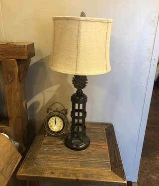 Crestview Pinecone Tower Table Lamp