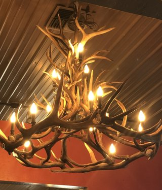 Fish Elk & Mule Deer 15 Light Chandelier