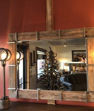 Uttermost Wade Mirror in Natural Fir Wood