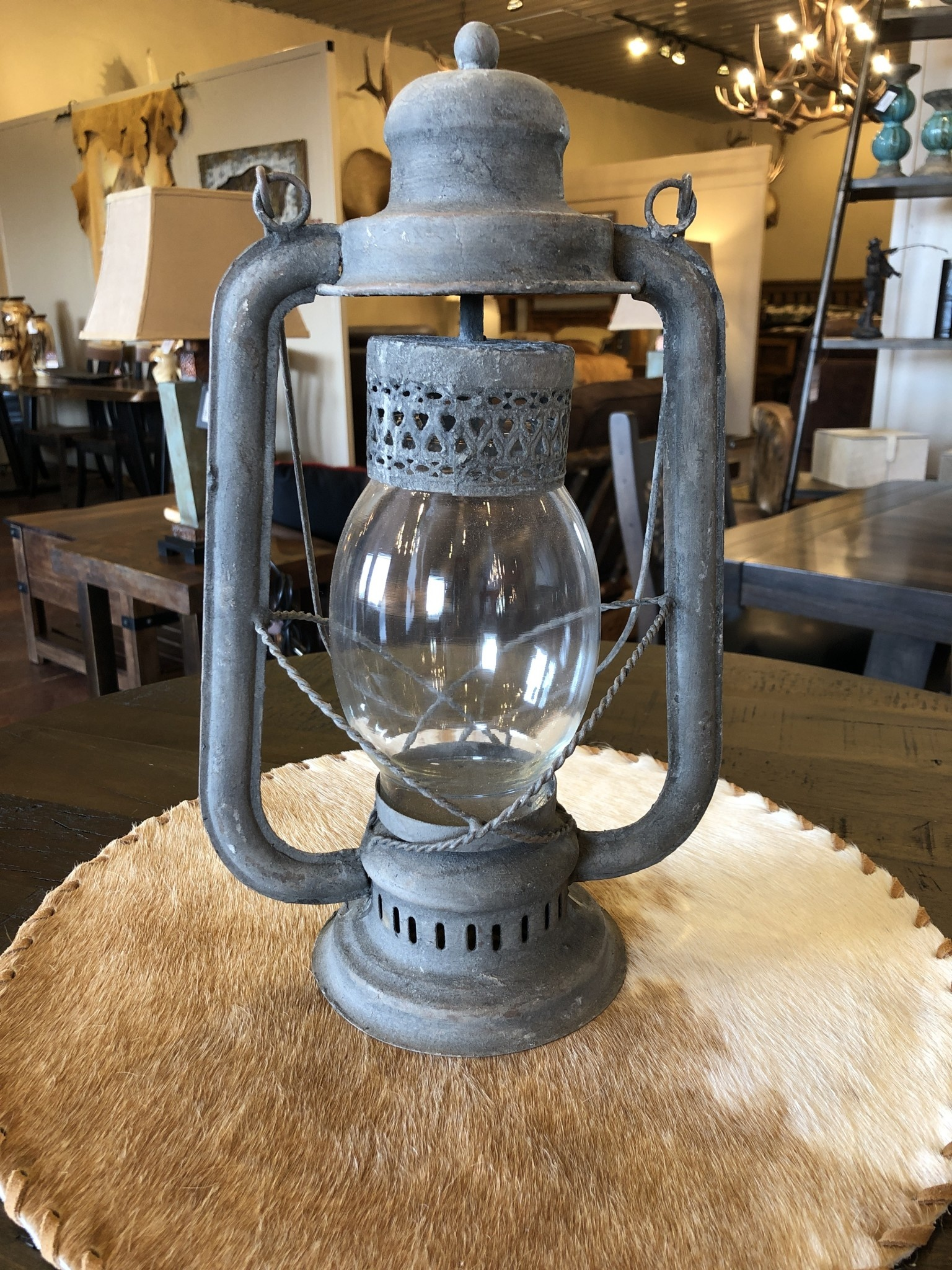 "Uma Rustic Lantern Candle 9""x23"" (88256)"
