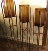 Artisans Torre Floor Base W/Crackled Cylinder