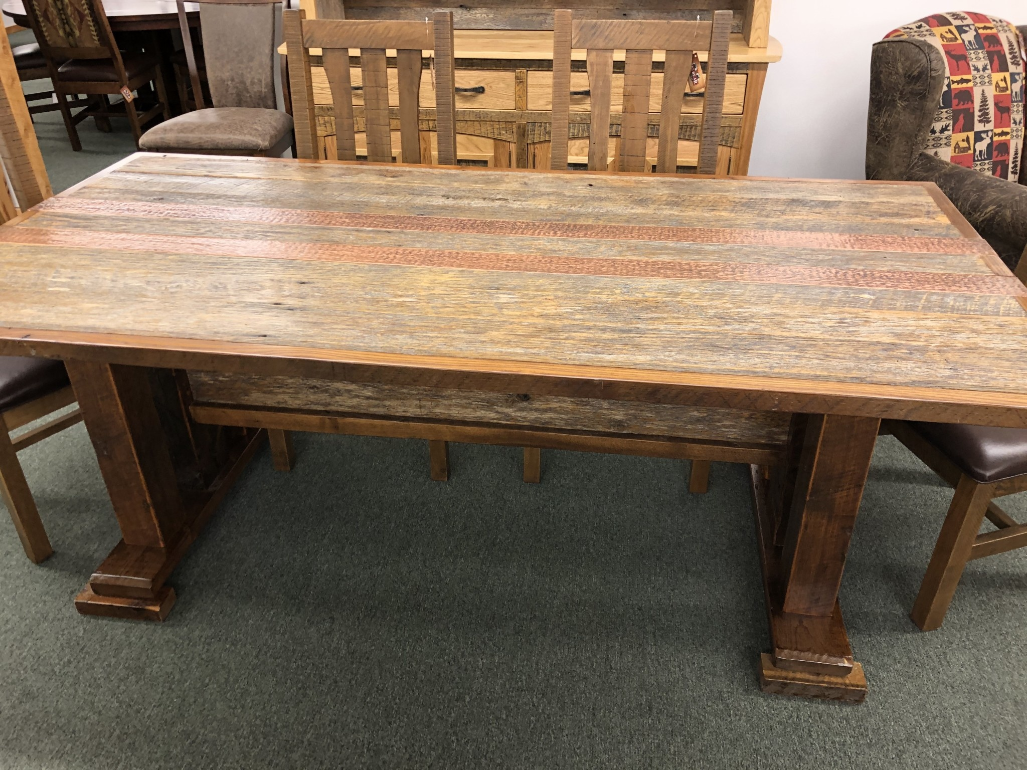 Green Gables Copperhead Dining Table 31H x 84W x 42D