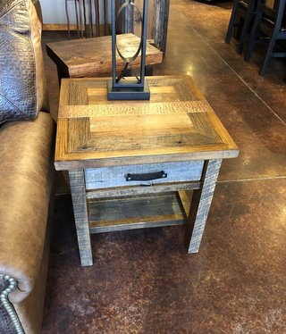 Green Gables Copperhead Side Table 25H x 24W x 24D