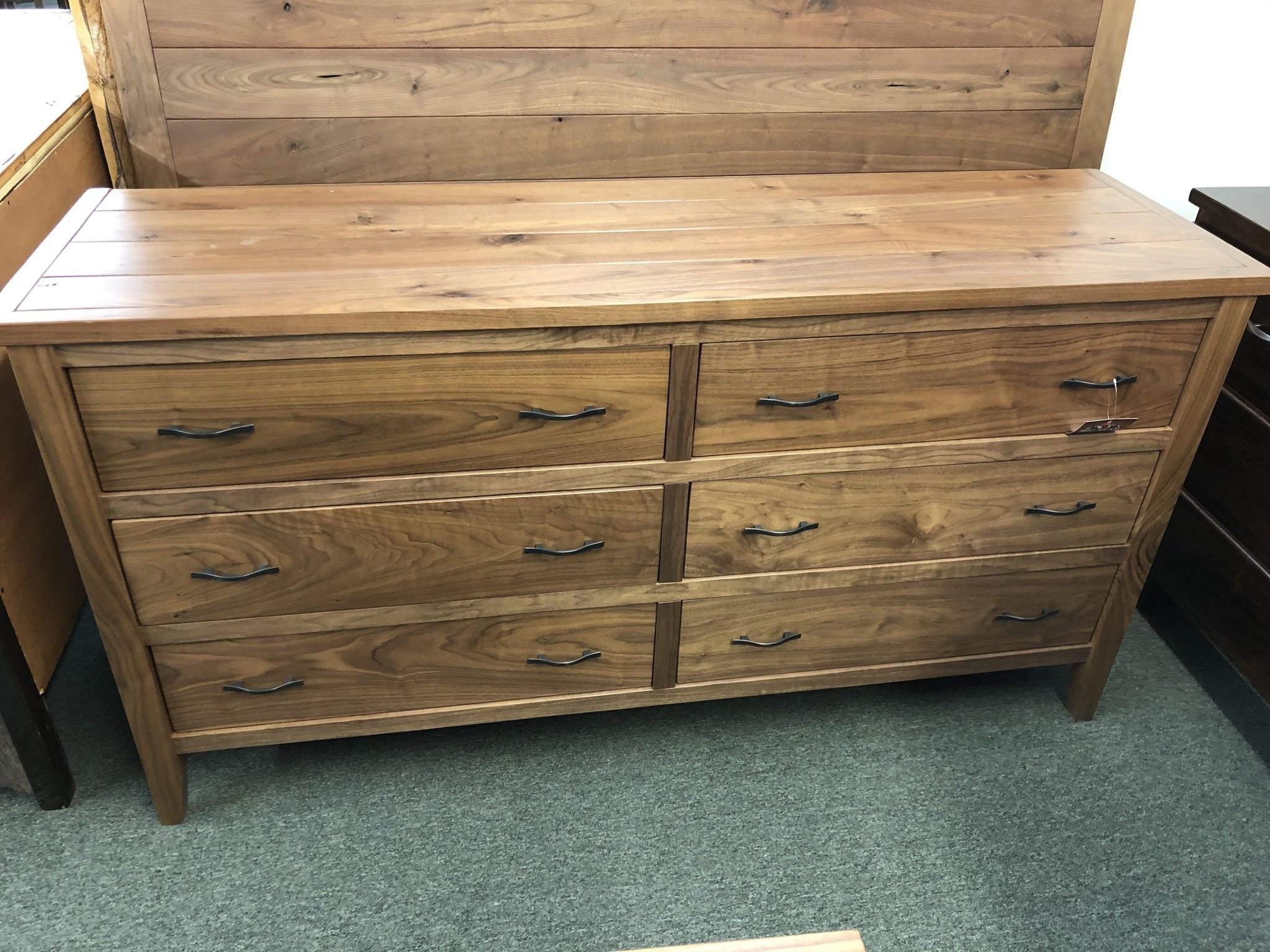 Green Gables Denver 6 Drawer Dresser-Walnut 35.5x68x20