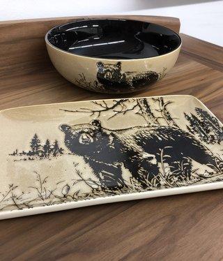 Unison Gifts Bear Rectangular Plate 13x8.5