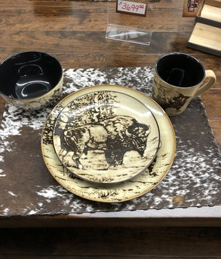 "Unison Gifts Bison 10.5"" Dinner Plate"