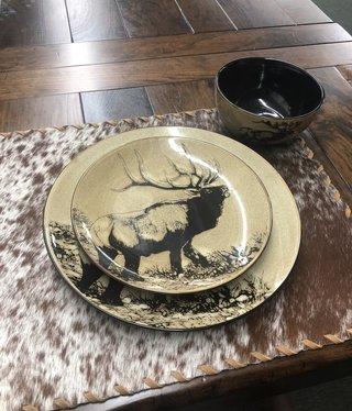 "Unison Gifts Elk Dinner 10.5"" Plate"