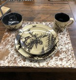 """Unison Gifts Moose 10.5"""" Dinner Plate"""