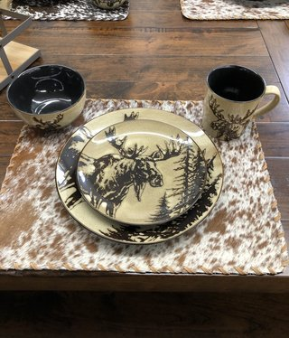 "Unison Gifts Moose 10.5"" Dinner Plate"