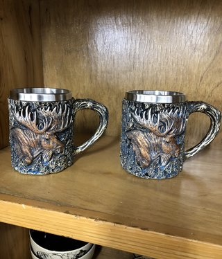 Unison Gifts Wood Like Moose Mug