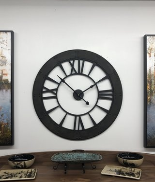 "Uttermost Ronan Wall Clock in Rustic Bronze 40""Diameter"