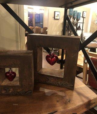 Artisans Love Shadow Box MD W/Red Heart (10x3x10)
