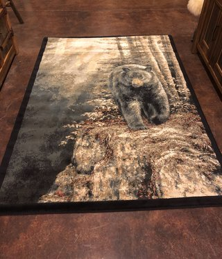 "United Weavers WWG Rocky Black Bear Rug    5'3""x7'6"""