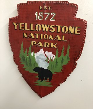 S Stocklin Hand Painted Park Shield
