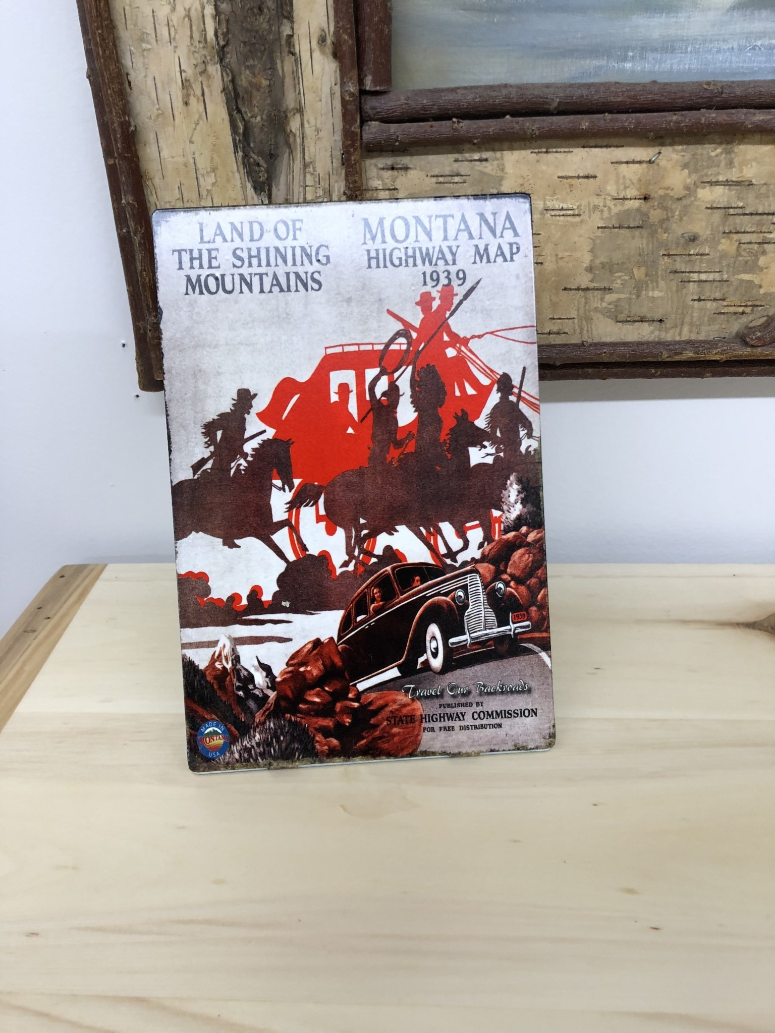 Classic Outdoor Magazines #6 1939  Montana Map Table Topper