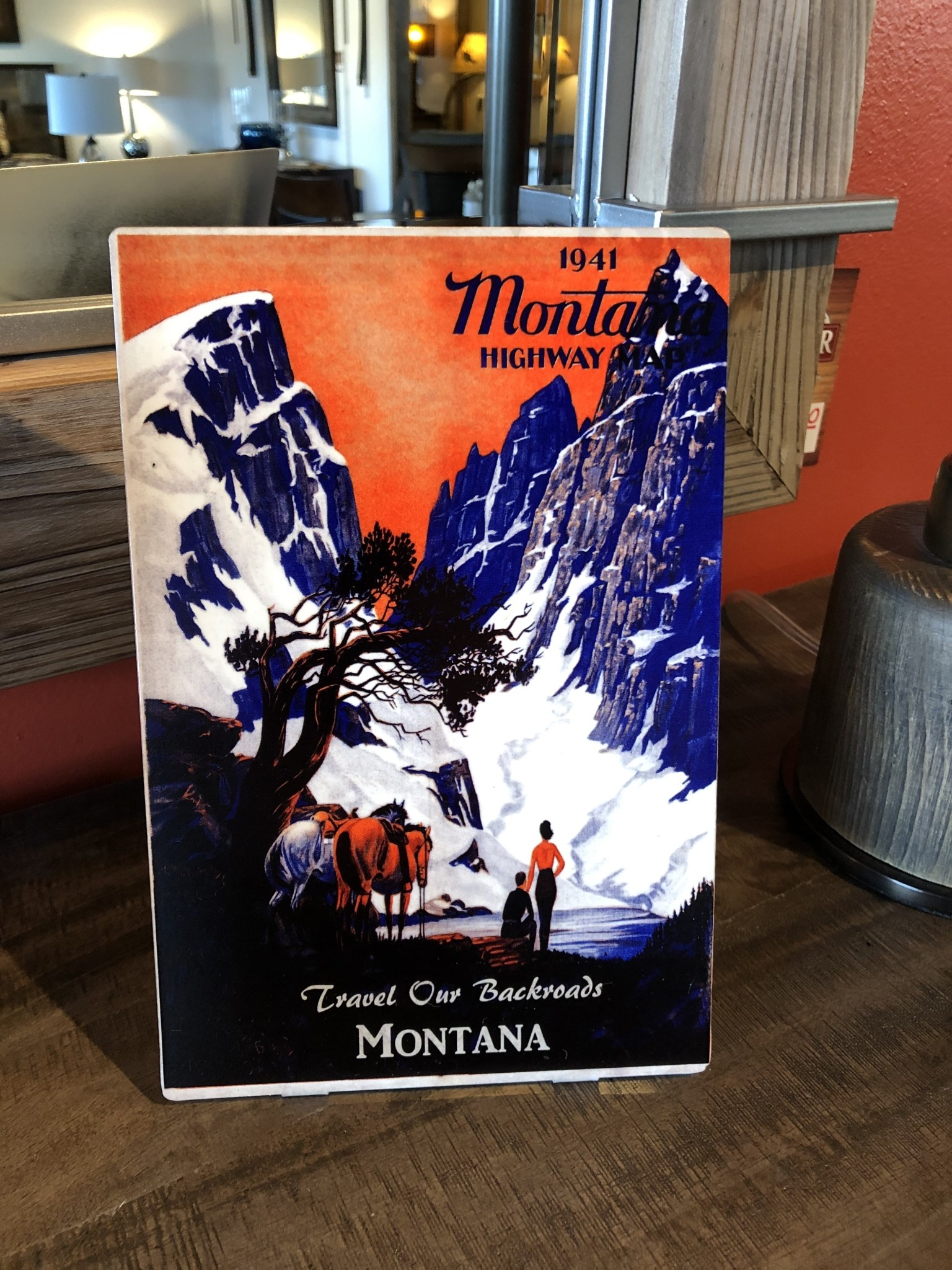 Classic Outdoor Magazines #8 1941 Montana Map Table Topper