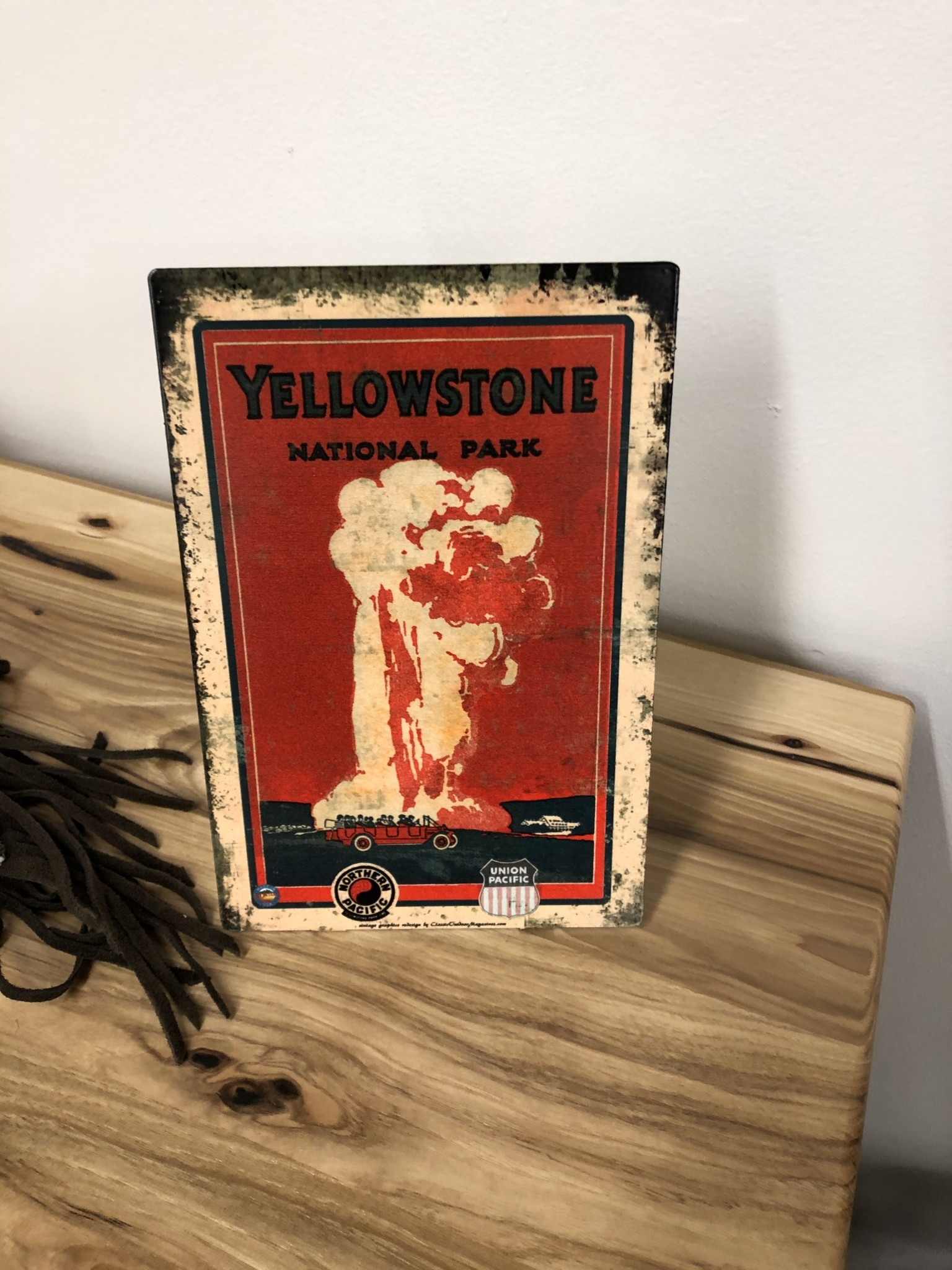 Classic Outdoor Magazines #13 Yellowstone Red Bus Table Topper