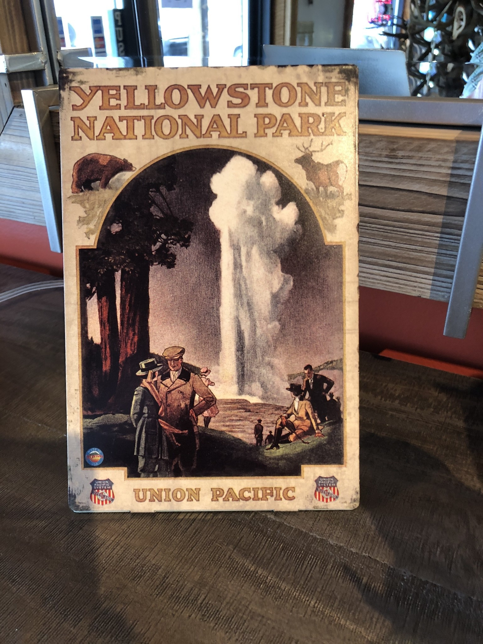Classic Outdoor Magazines #11 Overland to Yellowstone NP Table Topper
