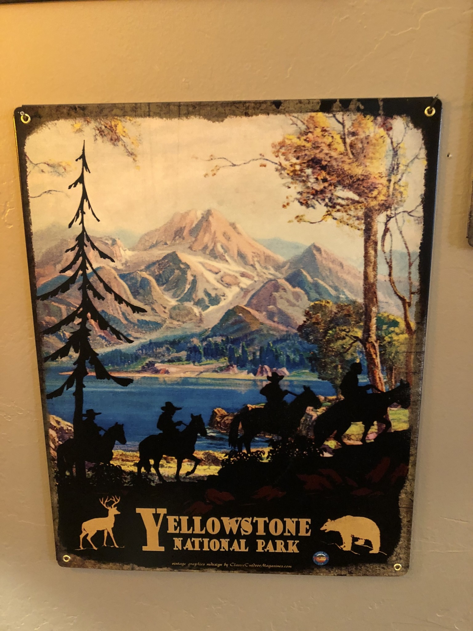 Classic Outdoor Magazines #24  Shadow Riders 12x15 metal sign