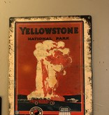 Classic Outdoor Magazines #13  Yellowstone Red Bus 12x15 metal sign