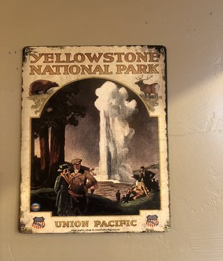 Classic Outdoor Magazines #11  Overland to Yellowstone NP 12x15 metal sign