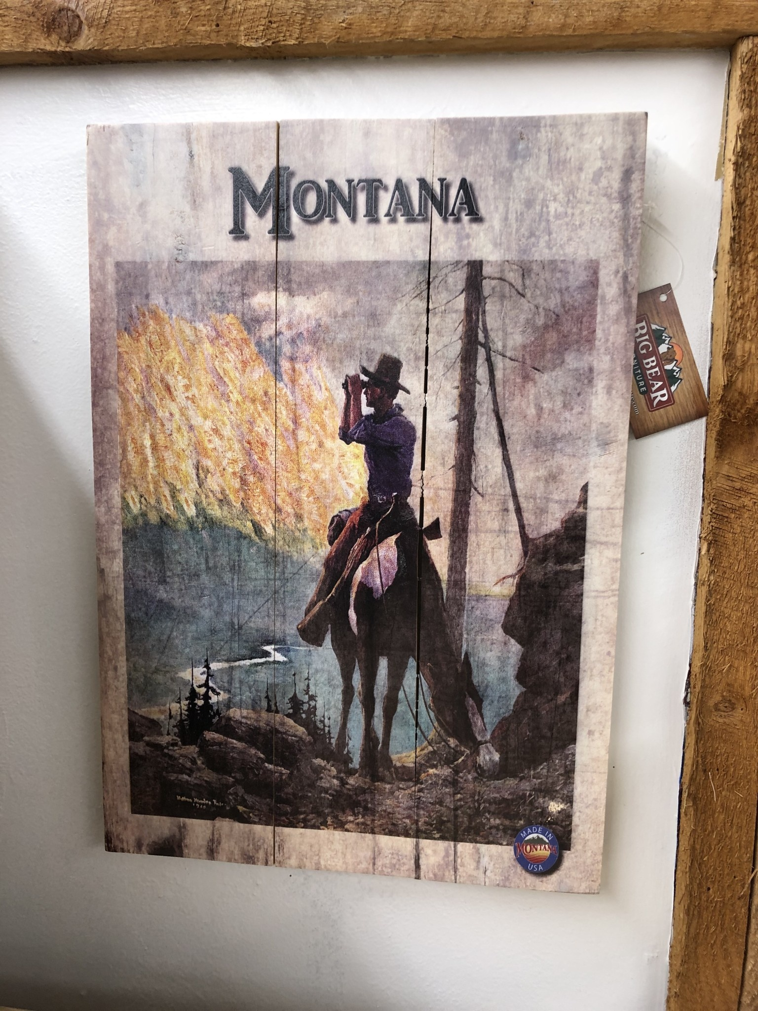 Classic Outdoor Magazines #4  Mountain Hunter 14x20 wood sign