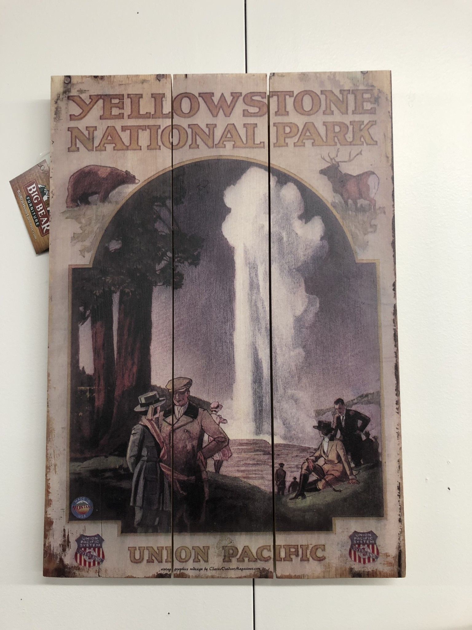 Classic Outdoor Magazines #11 Overland to Yellowstone 14x20 wood sign