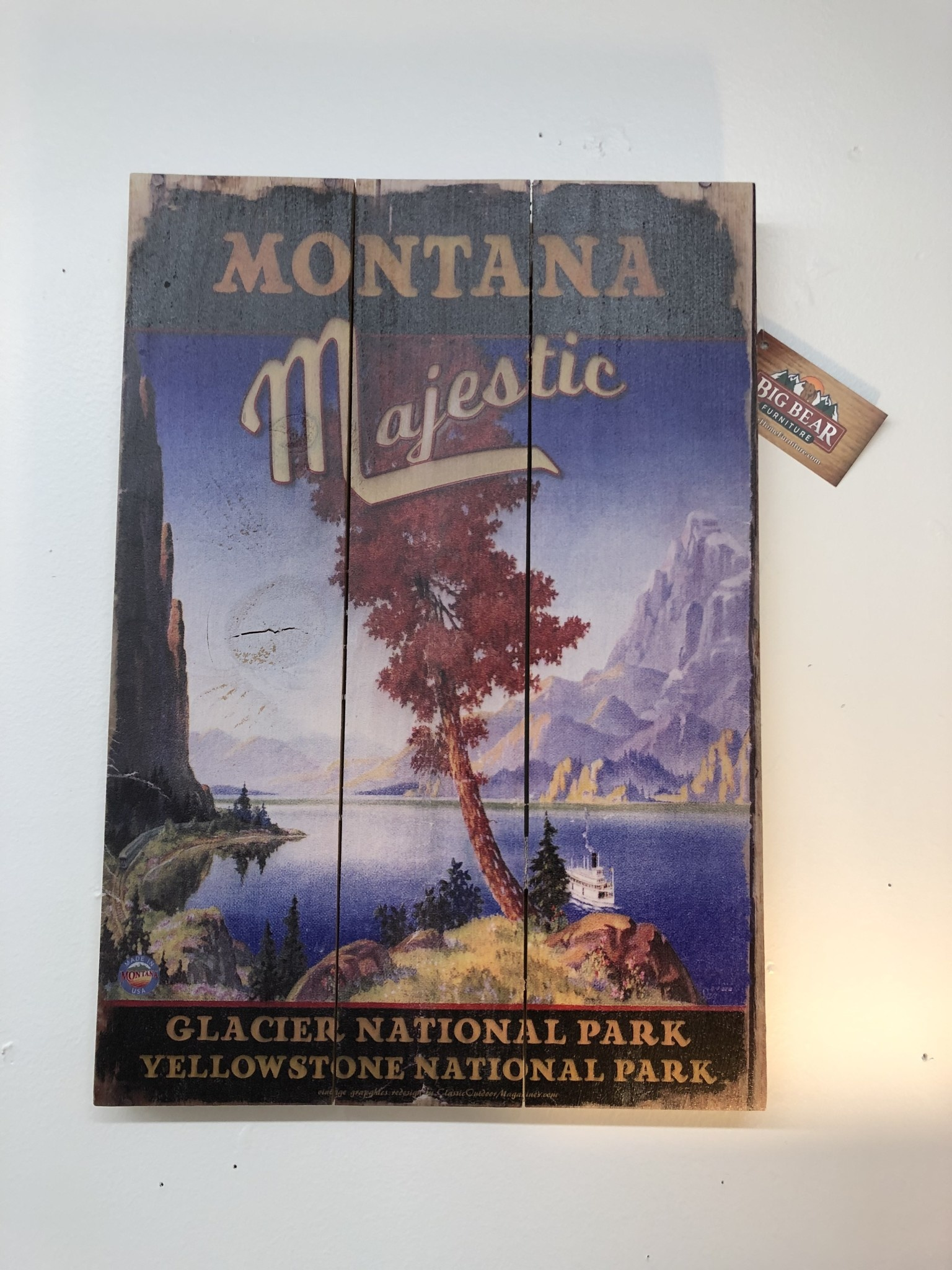 Classic Outdoor Magazines #23  Montana Majestic 14x20 wood sign