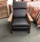 Co-ALBC Hickory Leather Recliner