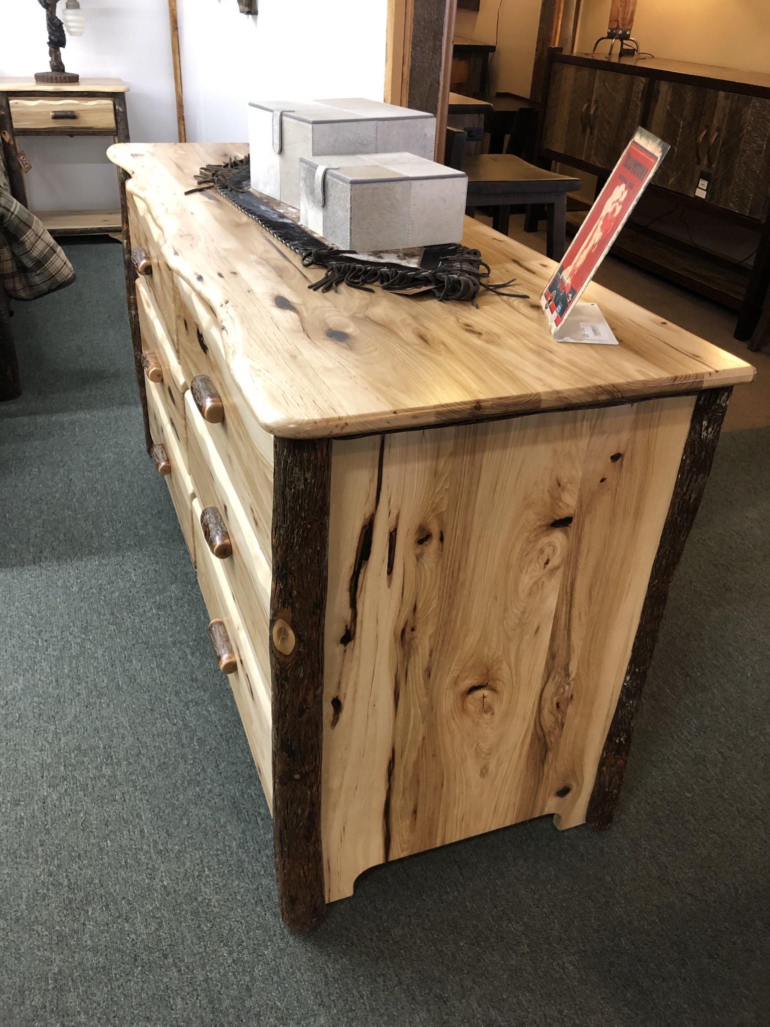 Co-ALBC 6 Drawer Hickory Dresser