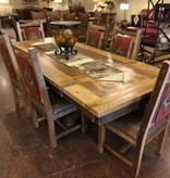 Co-ALBC Barnwood Pedestal Table 5' x 8'
